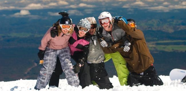 Winter ski experience on Mt Ruapehu Great Lake Taupo region New Zealand