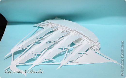 Открытка День рождения Вырезание Киригами pop-up Корабль + схема Бумага фото 8