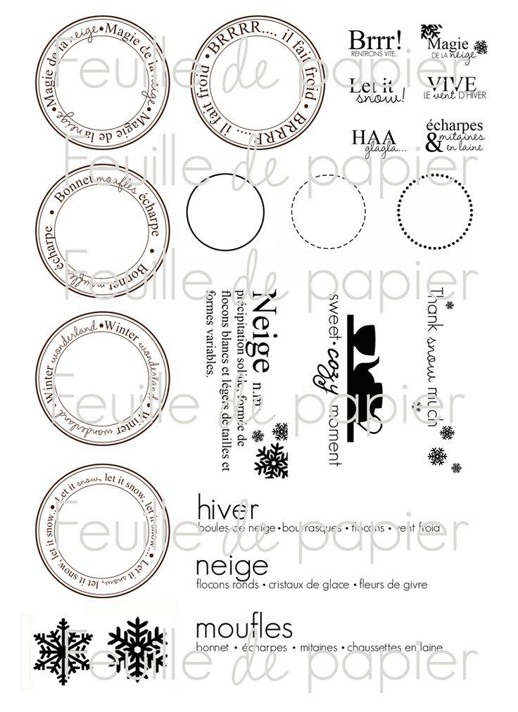 MATERIEL > Tampons > Marie-Laure Bollinger pour Feuille de papier > Collection N° 1 Petites mitaines en laine - Feuille de papier - Kits en ...