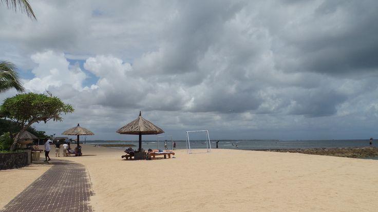 The beach outside the Conrad Bali Resort