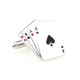 Poker Ace Playing Cards Cufflinks  USD $4.99