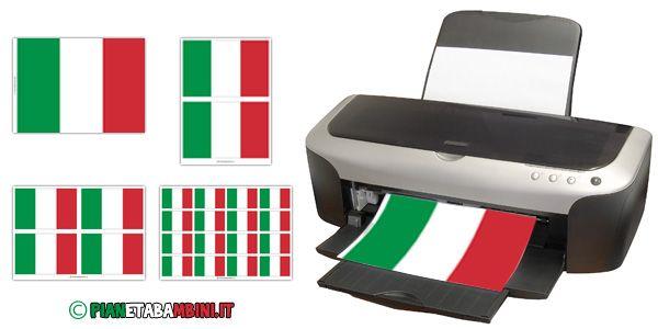 Bandiera italiana da stampare e ritagliare in più dimensioni