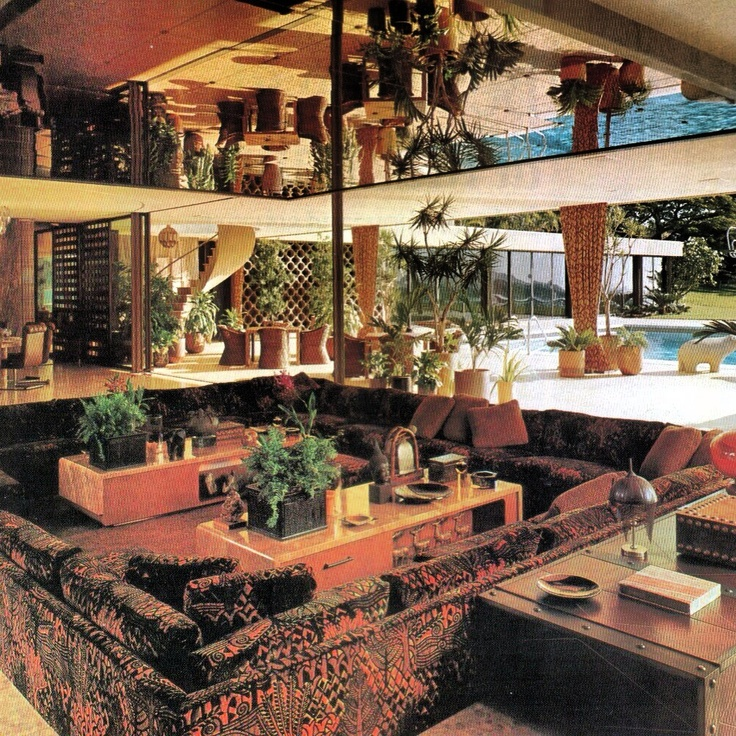 Sunken Living Room 70 S 274 best mcm/retro conversation pits/fireplaces images on