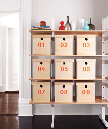 start with an IKEA box. stencil numbers. love this idea.