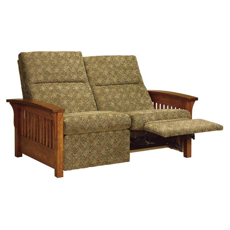 Amish Skyline Slat Loveseat Recliner | Amish Furniture | Shipshewana Furniture Co.