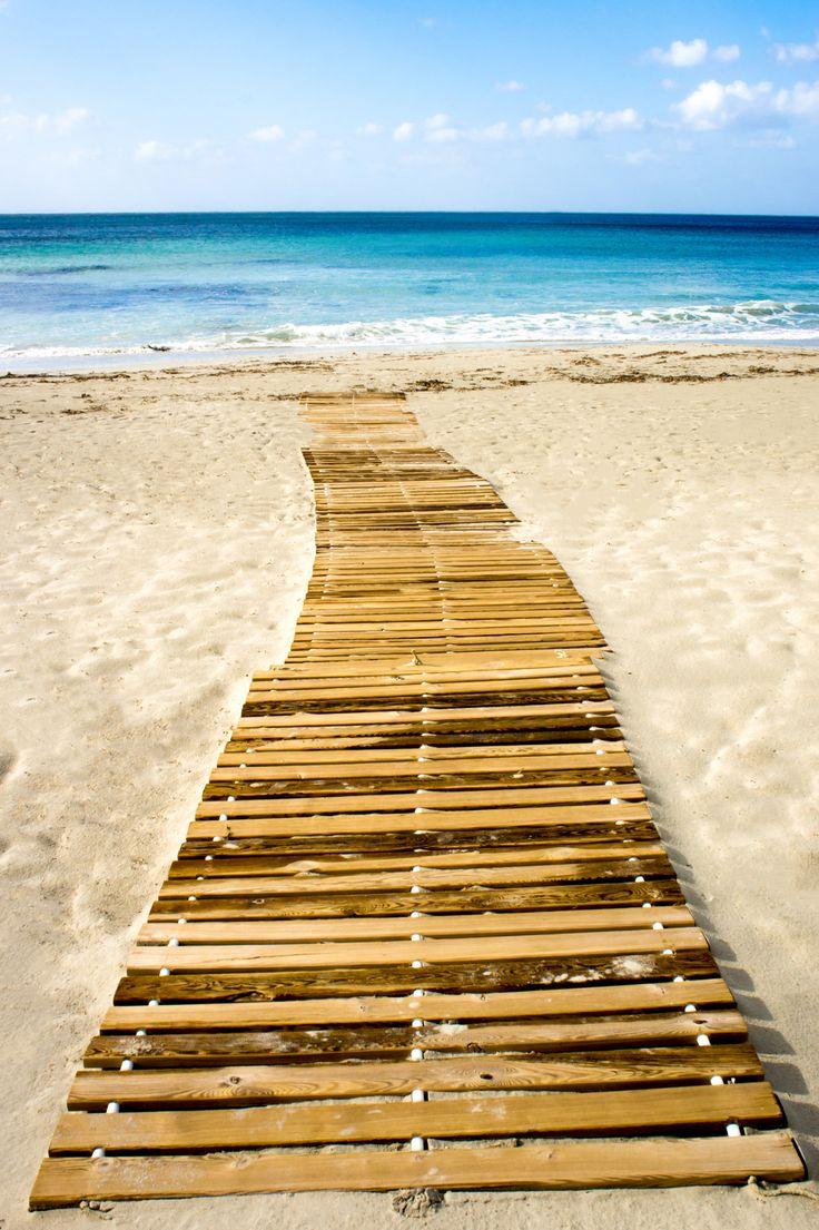 Beach jetty - On the beach of Sant Tomas, Menorca - Spain