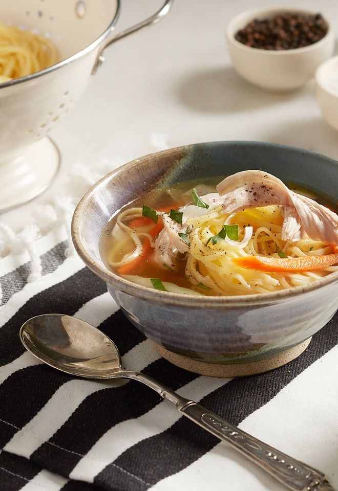 There's nothing better at warming you up than a bowl of homemade turkey soup.