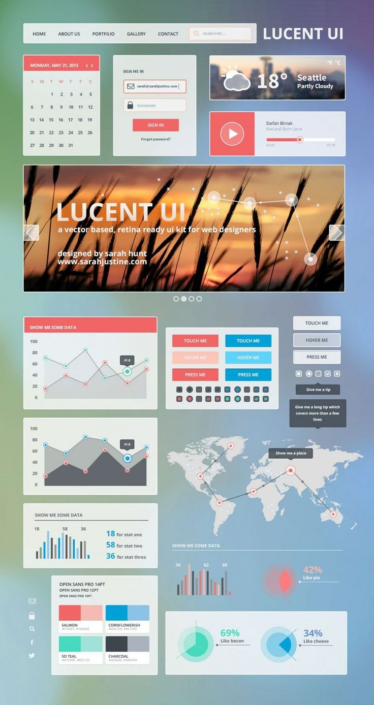 Poster design kit - Lucent Ui A Free Vector And Retina Ready Ui Kit