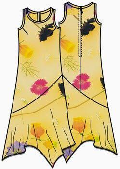 Free Dress Sewing Pattern in Plus sizes 50-66. Spanish Patrón gratis vestido tallas grandes 50-66