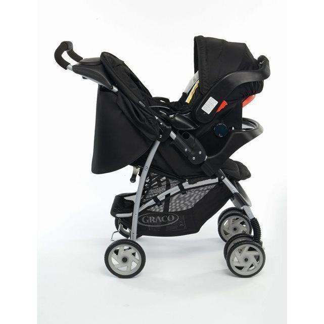 Poussette Graco Mirage Oxford 0-3 ans avec tablette parentale et tablier + Siège auto Graco Junior baby Oxford 0-12 mois