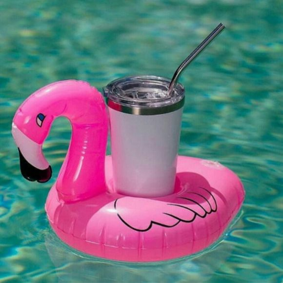 Flamingo Personalized Drink Float Personalized Drink Floats Pool Party Monogrammed Drink Float Swan Bachelorette Party