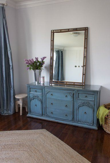 Beautiful chest and mirror