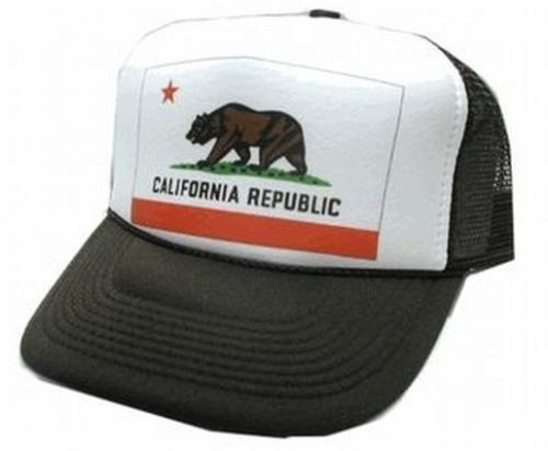 New California Republic Flag Trucker Hat Mesh Hat by MESHHATCOM, $10.99