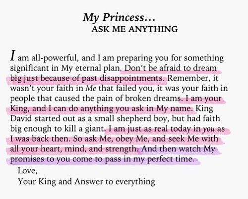 To My Princess... ask me anything