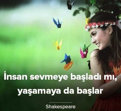 İnsan sevmeye başladı mı, yaşamaya da başlar. - William Shakespeare #sözler #anlamlısözler #güzelsözler #manalısözler #özlüsözler #alıntı #alıntılar #alıntıdır #alıntısözler