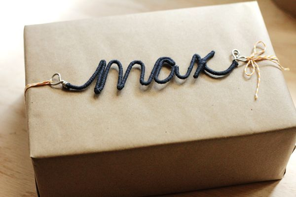 DIY : Personalized Wire Craft Ornaments