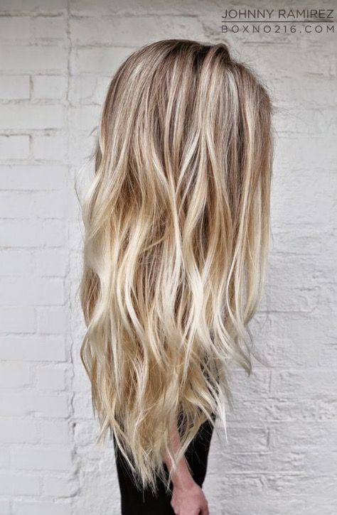 Bright-blonde, beach babe.