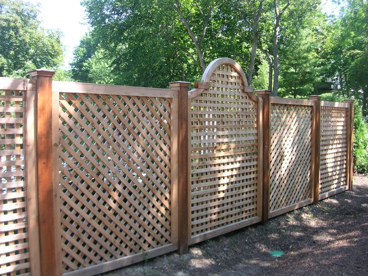 Unique Wood Fence Designs Wood Lattice Alternating