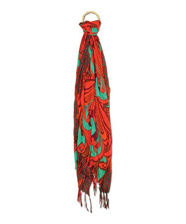 Another great find on #zulily! Coral Tattoo Kenya Scarf by Karma #zulilyfinds