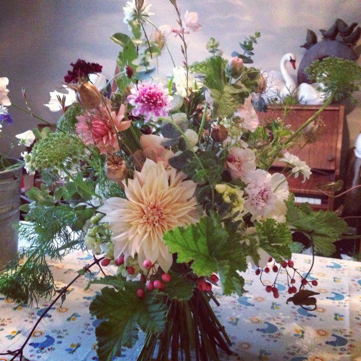 September Wedding Flowers In Season: October 2013 Bouquet From BareBlooms