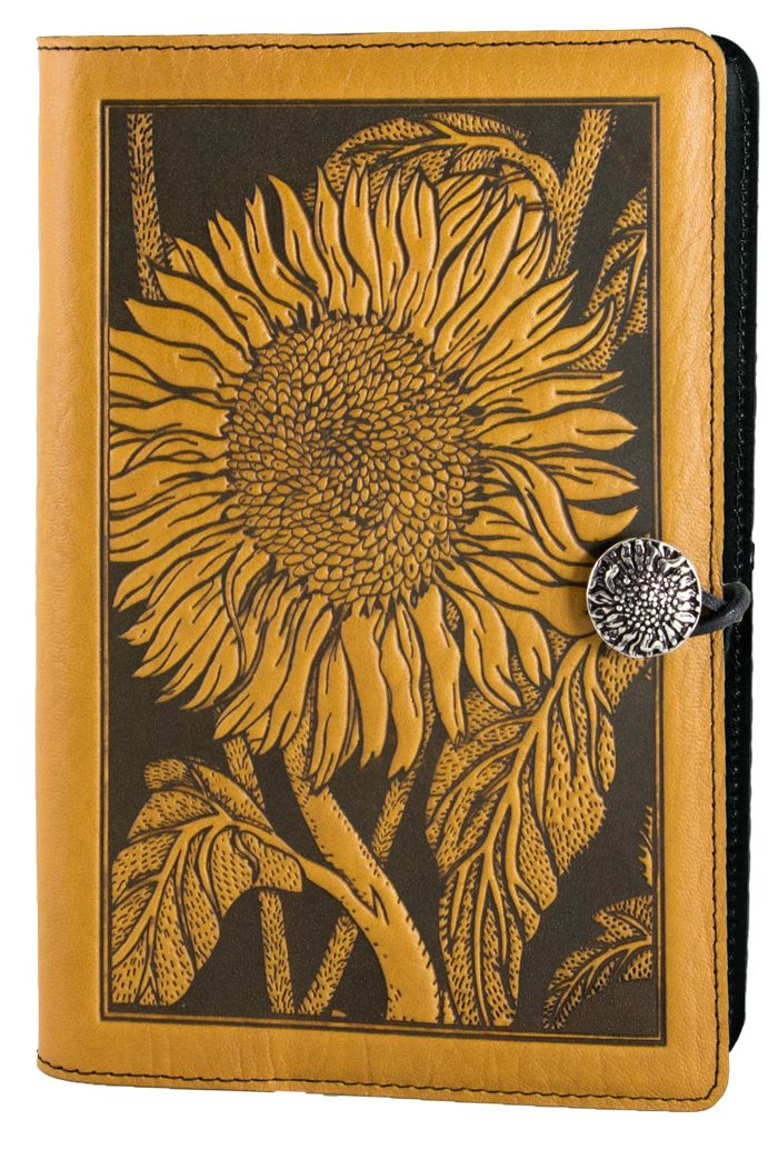 Leather Journal Cover   Diary   Sunflower   Oberon Design