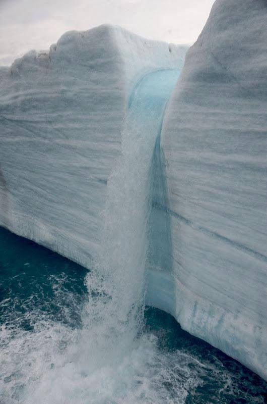 Glacial Waterfalls, Svalbard, Norway