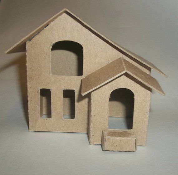 Items Similar To Little Village Christmas Houses Diy Vintage Village House On Etsy Cardboard House Glitter Houses Christmas Villages