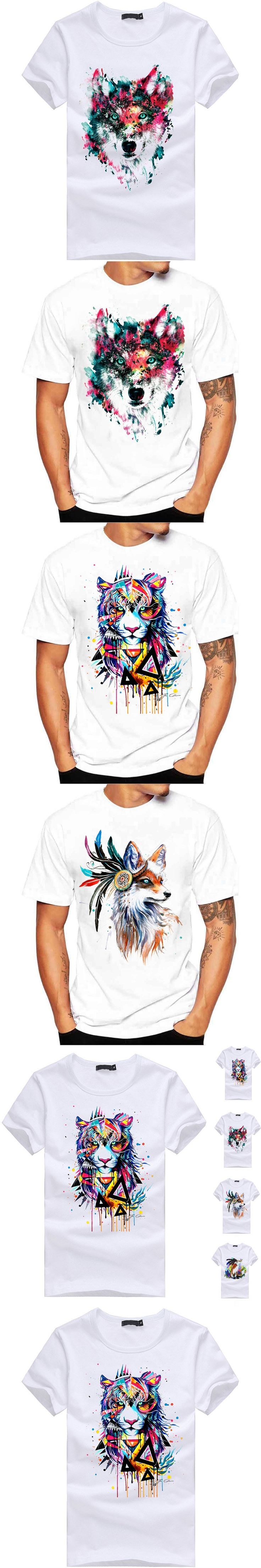 Fashion Men Women Short Sleeves Cute Animals Printed T-shirt Funny O-neck Casual Summer Couples Tee Tops -MX8