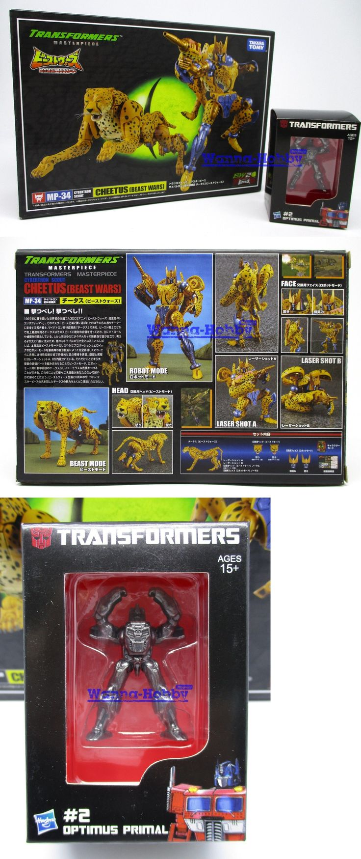 Transformers and Robots 83732: 68910 Transformers Masterpiece Mp-34 Beast Wars Cheetor With Metal Mini Optimus -> BUY IT NOW ONLY: $59.99 on eBay!