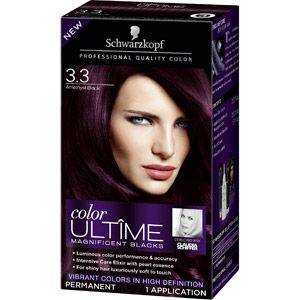 Thinking abouy going this shade...    Schwarzkopf Color Ultime Magnificent Blacks Hair Coloring Kit, 3.3 Amethyst Black