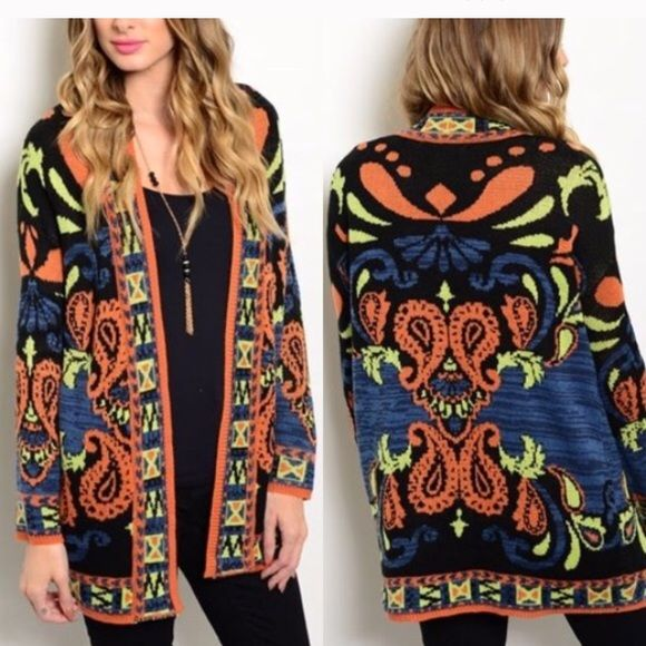 Reserved Aztec Tribal Print Sweater Size Large Sweaters Cardigans