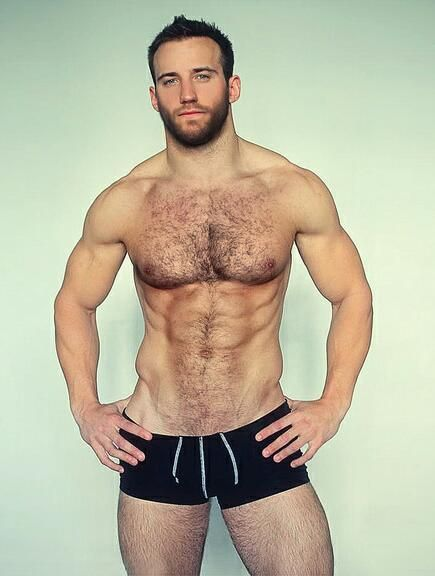 Hairy gay muscle men