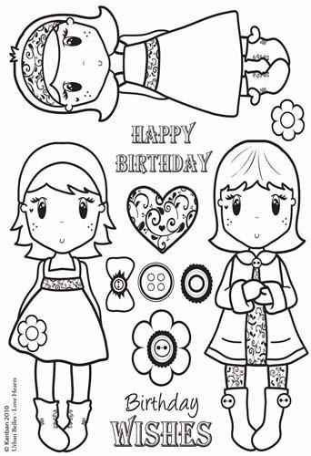 Kanban Crafts - Clear Acrylic Stamps - Urban Belles - Love Hearts at Scrapbook.com $11.24