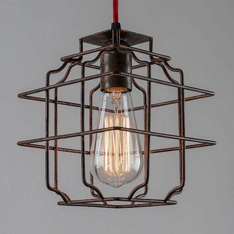 Подвесной светильник Hanging Lamp In Rusty Wire - Home Concept интерьерные магазины