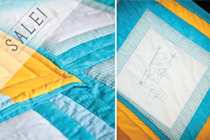 20% OFF this super cute handmade quilt on www.littlehoneypot.co.za