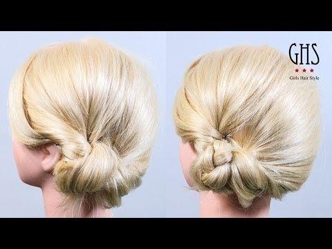 時短アレンジ:耳下おだんごヘア セミロング | Time reduction hairstyle - YouTube