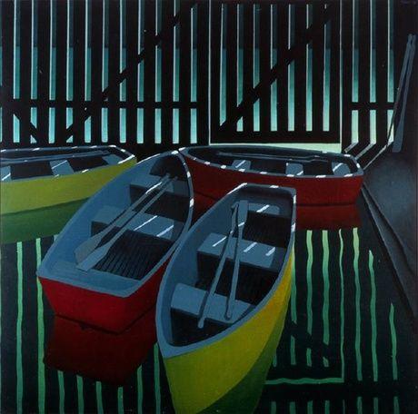Michael Smither - Pukekura Park boathouse
