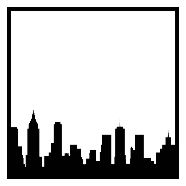 Skyline New York Scrapbooking Die Cut Overlay