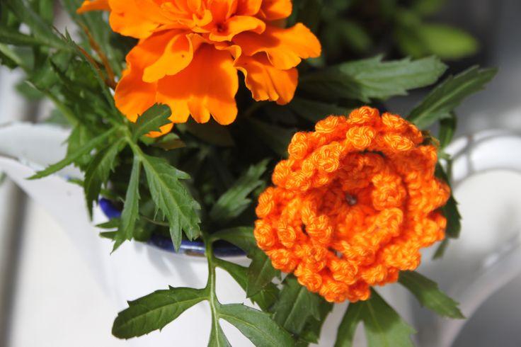 Afrikaantje ~ bloemetje ~ haken