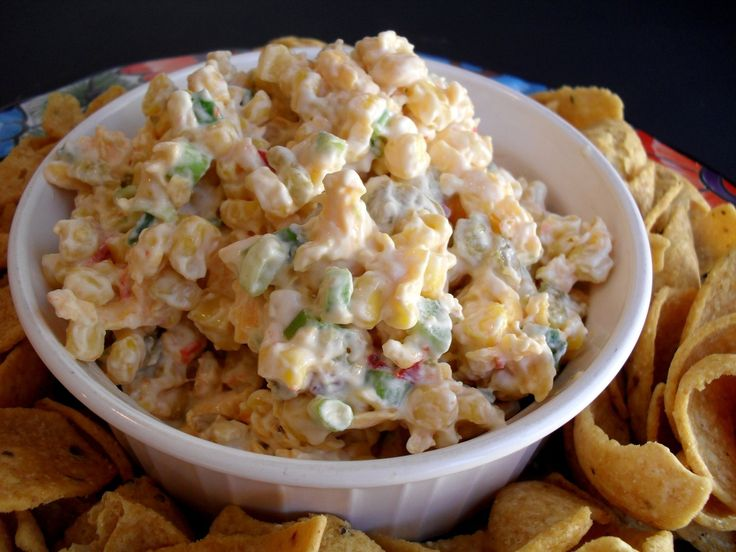The Best Corn Dip Recipe EVER!Corn Dips Recipe, Cold Appetizers, Corndip, Mexicans Corn Dips, Real Meals, Corn Recipe, Parties Treats, Green Onions, Dip Recipes
