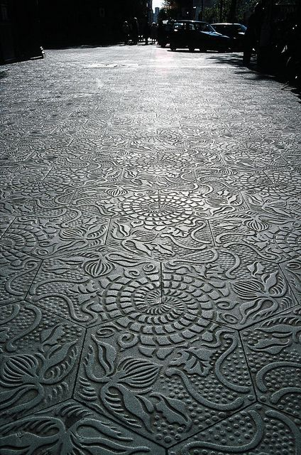 Pavement tiles, Barcelona. - concrete floortiles | Betonnen vloertegels #betondesign