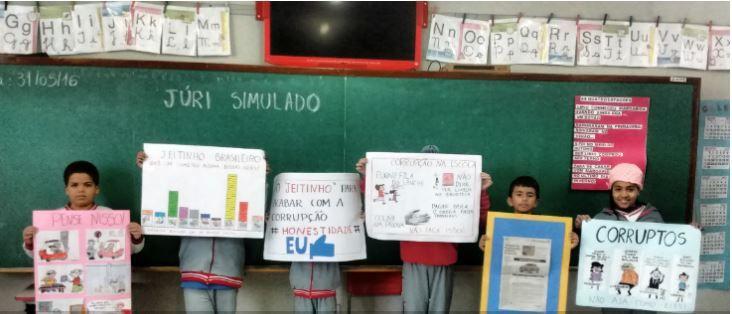 Crianças debatem jeitinho brasileiro em projeto sobre corrupção