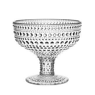 Iittala Kastehelmi Footed Bowl, gray