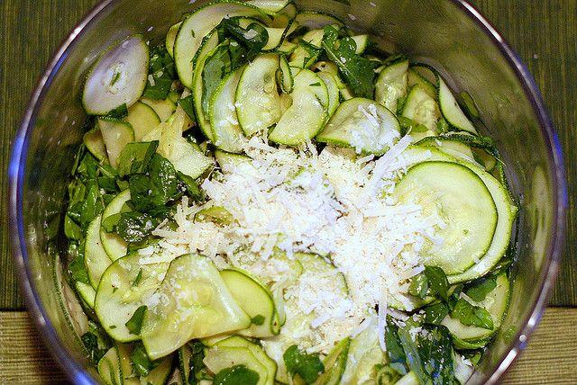 zucchini carpaccio salad | smitten kitchen
