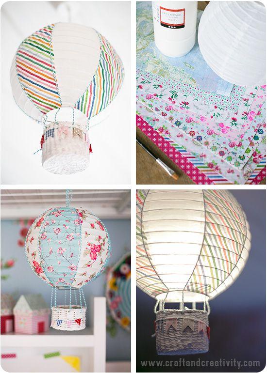 Lanterne de ballons en papier a chaud de l'air - par Craft & Créativité