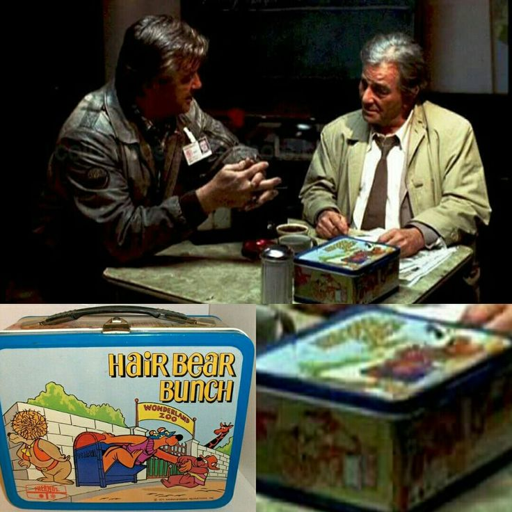 """Columbo's lunchbox in the episode """"Ashes to Ashes"""" is of the Hanna-Barbera cartoon, """"The Hair Bear Bunch"""" :)"""