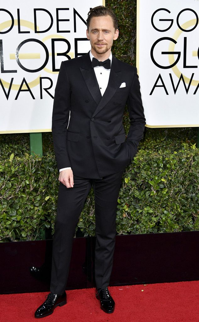 Tom Hiddleston from 2017 Golden Globes Red Carpet Arrivals In Gucci
