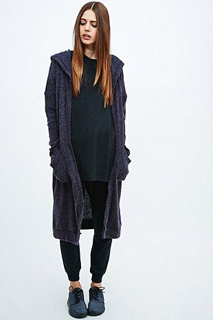 Sparkle & Fade - Gilet long doux violet - Urban Outfitters
