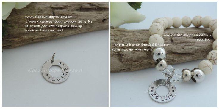 Handstamped Bracelet for Mothers Day