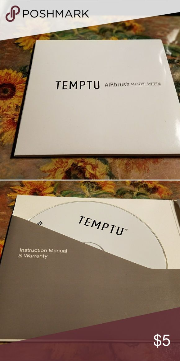 TEMPTU Airbrush MAKEUP SYSTEM Instruction guide and How-To-AIRbrush DVD Temptu Makeup